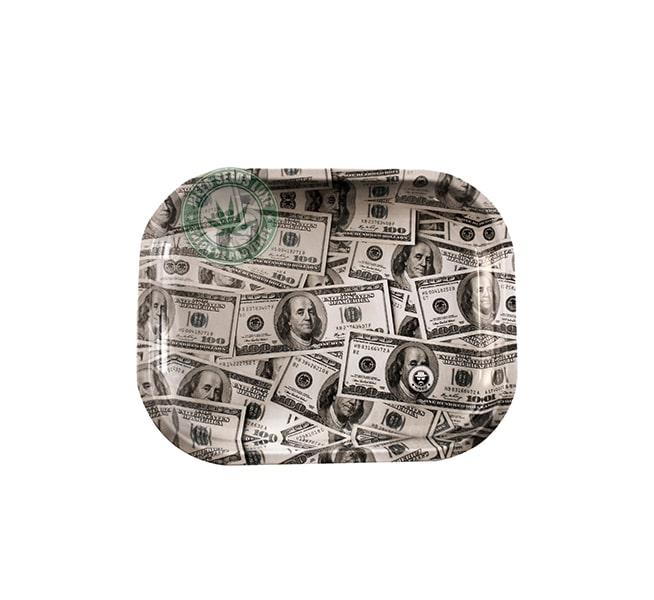 Plateau de roulage Dollar en Metal