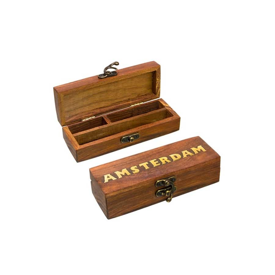 SMALL WOODEN BOX AMSTERDAM
