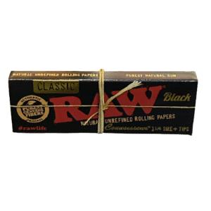 raw classic black 1/4 size + tips
