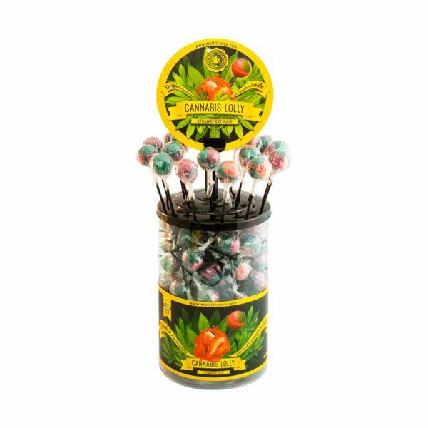 "Sucette Cannabis ""Strawberry Haze"""