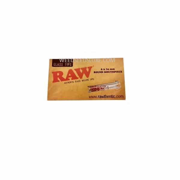 RAW Glass Tips Round Mouthpiece Display