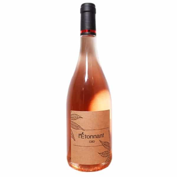 L'Étonnant - Vin au CBD Rosé
